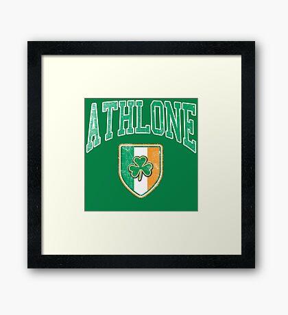 Athlone, Ireland with Shamrock Framed Print