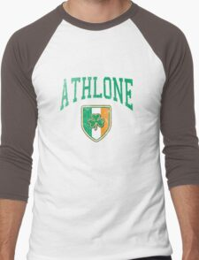 Athlone, Ireland with Shamrock Men's Baseball ¾ T-Shirt