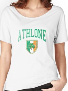 Athlone, Ireland with Shamrock Women's Relaxed Fit T-Shirt