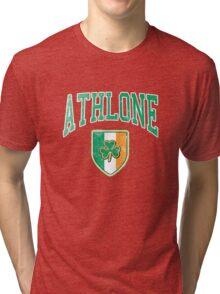 Athlone, Ireland with Shamrock Tri-blend T-Shirt