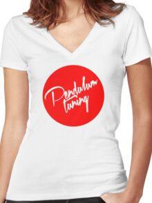 Pendulum Tuning Logo (Script) Women's Fitted V-Neck T-Shirt
