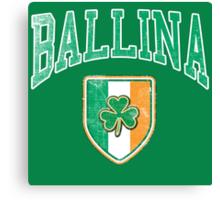 Ballina, Ireland with Shamrock Canvas Print
