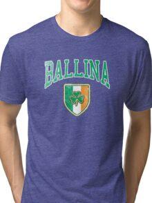 Ballina, Ireland with Shamrock Tri-blend T-Shirt