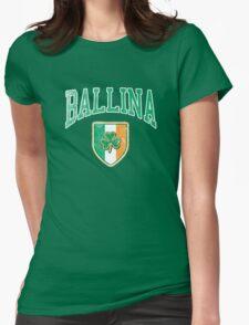 Ballina, Ireland with Shamrock Womens Fitted T-Shirt