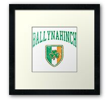 Ballynahinch, Ireland with Shamrock Framed Print