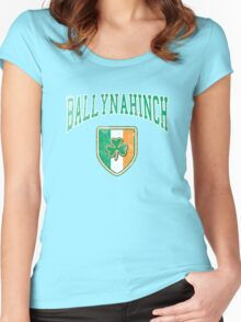 Ballynahinch, Ireland with Shamrock Women's Fitted Scoop T-Shirt