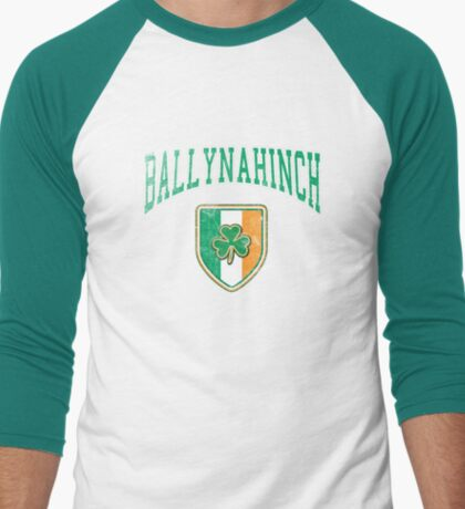 Ballynahinch, Ireland with Shamrock Men's Baseball ¾ T-Shirt