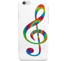 Tie-Dye Treble iPhone Case/Skin