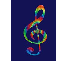 Tie-Dye Treble Photographic Print