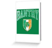 Bantry, Ireland with Shamrock Greeting Card