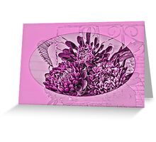 Pink And Purple Asters Greeting Card