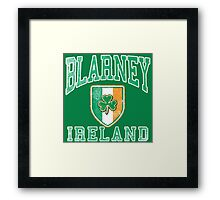 Blarney, Ireland with Shamrock Framed Print
