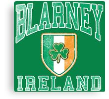 Blarney, Ireland with Shamrock Canvas Print