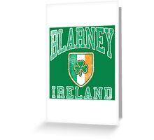 Blarney, Ireland with Shamrock Greeting Card