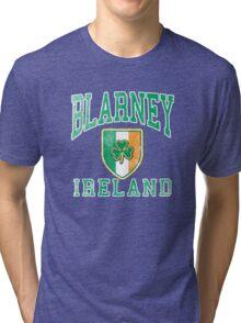Blarney, Ireland with Shamrock Tri-blend T-Shirt
