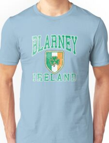 Blarney, Ireland with Shamrock Unisex T-Shirt