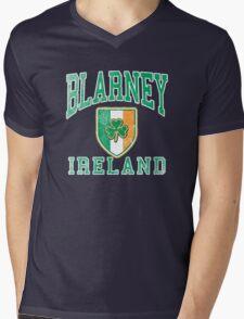 Blarney, Ireland with Shamrock Mens V-Neck T-Shirt