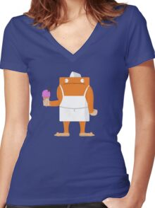 Ice Cream Vendor - Everyday Monsters Women's Fitted V-Neck T-Shirt