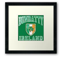 Bunratty, Ireland with Shamrock Framed Print