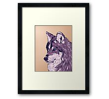 Blue eyed wolf Framed Print