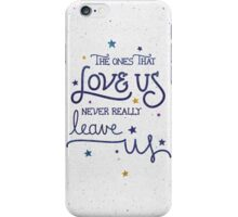 "Harry Potter ""Never leave us"" iPhone Case/Skin"