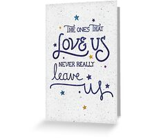 "Harry Potter ""Never leave us"" Greeting Card"