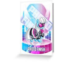 MLP: Photo Finish Greeting Card