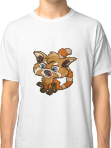 New school red panda design Classic T-Shirt