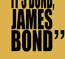 movie quotes: bond by shinypikachu