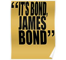 movie quotes: bond Poster
