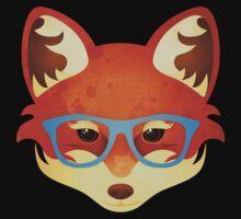 Hipster Fox One Piece - Short Sleeve