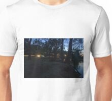 Camp by the river. Unisex T-Shirt