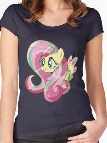 Rainbowfied Fluttershy Women's Fitted Scoop T-Shirt