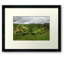 North West, Along Cressbrook Dale Framed Print