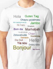 Hello (from around the world) Unisex T-Shirt