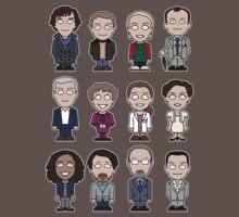 Sherlock and Friends mini people (shirt) Baby Tee