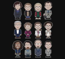 Sherlock and Friends mini people (shirt) by redscharlach