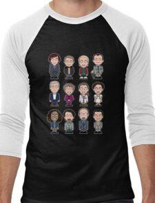 Sherlock and Friends mini people (shirt) Men's Baseball ¾ T-Shirt