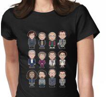 Sherlock and Friends mini people (shirt) Womens Fitted T-Shirt
