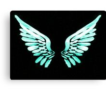 Teal Angel wings Canvas Print