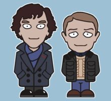 Sherlock and John mini people (shirt) Kids Tee