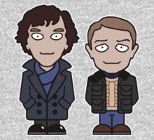 Sherlock and John mini people (shirt) One Piece - Long Sleeve