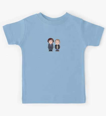 Sherlock and John mini people (shirt) Kids Tee