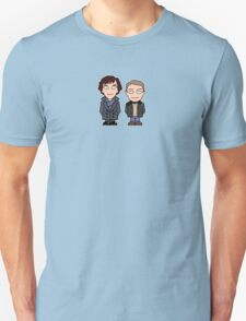 Sherlock and John mini people (shirt) T-Shirt