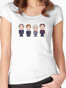 Cabin Pressure mini people (shirt) Women's Fitted Scoop T-Shirt