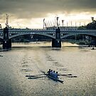 Early Morning Rowers on the Yarra by Matt Simner