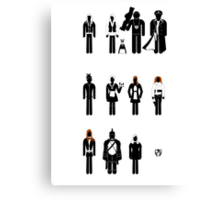 Doctor Who - companions recognition guide Canvas Print