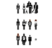 Doctor Who - companions recognition guide Photographic Print