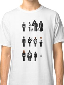 Doctor Who - companions recognition guide Classic T-Shirt