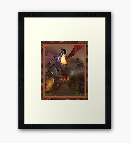 The Dragons Revenge Framed Print
